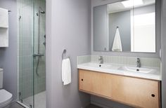 : Elegant Lucas Valley Eichler Midcentury Bathroom Design Interior With Small Bathroom Vanities Furniture Made From Wooden Material Bathroom Basin Cabinet, Small Bathroom Vanities, Bathroom Renos, Bathrooms, Vanity Bathroom, Bathroom Furniture, Master Bathroom, Bathroom Ideas, Mid Century Modern Door