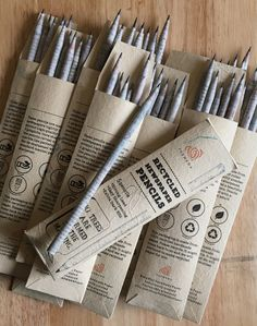 5 Recycled newspaper pencils, Pencils, Handmade paper, HB 2 Graphite, Lead Pencil by PARWANAPaper on Recycle Newspaper, Newspaper Paper, Led Pencils, Baby Mobile, Sustainable Living, Sustainable Products, Innovative Products, Gift Store, Sustainability