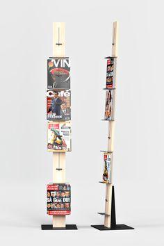 POST WALL MOUNTED DISPLAY RACK - Designer Broschüren- / Zeitschriftenständer von Lillian Öberg ✓ Alle Infos ✓ Hochauflösende Bilder ✓ CADs ✓..