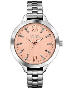 Caravelle New York by Bulova Women's Stainless Steel Bracelet Watch 37mm 45L141 - Watches - Jewelry & Watches - Macy's
