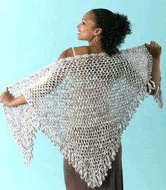 Crochet Shawl for Summer, free pattern, #haken, gratis patroon (Engels), omslagdoek, zomer, #haakpatroon