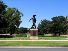 Seed Sower Statue - University of Oklahoma Campus