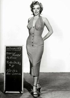 Vintage Wardrobe Test Shots for Famous Movies  Marilyn Monroe in Niagara, 1952.