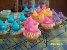 Easter Peeps Cupcakes <3