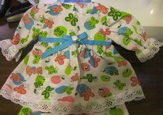 """Pink/Green Butterflies Dress/Bloomers Fits 12-14"""" Berenguer,  incl La Newborn  #KindredHeartsDesigns"""