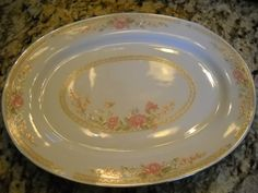 """Fairfield Fine China 14 1/2"""" Oval Serving Platter Symphony Excellent Replacement   eBay"""