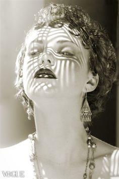 ON SALE re. Clara Bow (original art, portrait, black and white photography, 12x18 print, Vogue It, monochome photo, beauty, shadow. $25.50, via Etsy.