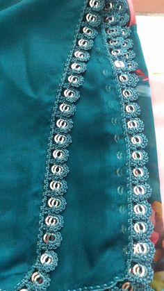 This post was discovered by Ro Saree Kuchu Designs, Blouse Designs, Knot Pillow, Hem Jeans, Crochet Projects, Fabric Design, Designer Dresses, Tatting, High Waisted Skirt