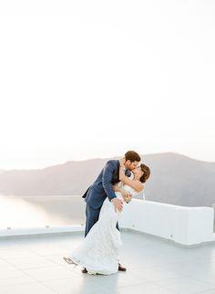 Photography - Assistance: Graham Terhune Photography - grahamterhune.com Photography: Anna Routh Photography - annarouthphoto.com/   Read More on SMP: http://www.stylemepretty.com/destination-weddings/2016/09/29/santorini-destination-wedding/