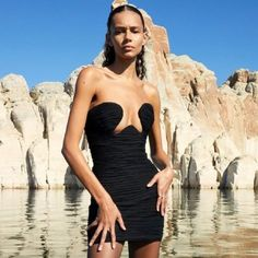 Sleeveless Sexy Strapless Draped Vestidos Mini Club Dres #minidress #spring2021 #summenr #fashion #stylish # #likeforlike #comment #followforfollow Fall Collection, Club, Evening Party, Cheap Dresses, Fall Outfits, Christmas Outfits, Mini, New Dress, Strapless Dress Formal