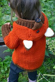 Adorable Fox Coat Knit Pattern on Ravelry, fall, autumn, costume, fox, diy, crafts, knit, crochet, knit pattern, Fox Coat Knit Pattern, fox coat, kids clothes