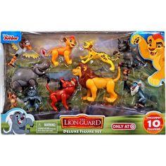 Disney The Lion Guard Deluxe Pride Lands 10 Figure Set, Multicolor