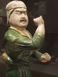 Tomb figure of Groom Tang Dynasty China early 8th century CE earthenware with three-color (sancai) lead glaze
