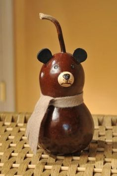 Our new Bear family comes in four sizes. Each one is nutmeg in color. Baby Bear is approximately 2 inches in diameter.