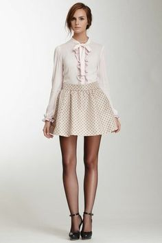 Shades of blush mini skirt