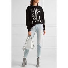 Christopher Kane sweater, M.h jeans, Oscar Tiye boots, Loewe bag Loewe Hammock Bag, Loewe Bag, Over The Shoulder Bags, Parisian Chic, Top Designer Brands, Leather Shoulder Bag, White Jeans, Fashion Online, Streetwear Brands