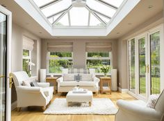 Designing your conservatory's interior can be quite tough, so here are some great and popular interior design themes to get you inspired! Home, Roof Lantern, House Styles, Urban Interiors, Orangery, New Homes, House, Beautiful Interiors, Conservatory Interior