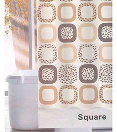 Linenwalas Square Design Water Repellent Bathroom Shower… Bathroom Essentials, Bathroom Shower Curtains, Water, Prints, Design, Gripe Water