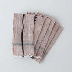 Khadi cloth napkins. Woven by hand from hand-spun yarn.