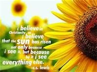 A great quote by C.S. Lewis.