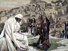 """Lament for Jerusalem: As he drew near, he saw the city and wept over it, saying, """"If this day you only knew what makes for peace—but now it is hidden from your eyes. For the days are coming upon you when your enemies will raise a palisade against you; they will encircle you and hem you in on all sides. They will smash you to the ground and your children within you, and they will not leave one stone upon another within you because you did not recognize the time of your visitation."""" -Luke…"""