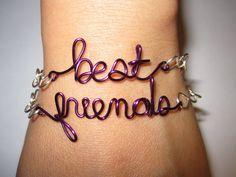 Purple Best Friends Bracelets Silver Plated and by aLilJazzJewelry