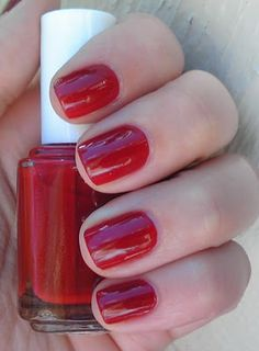 Pouf Daddy by Essie, perfect summer red