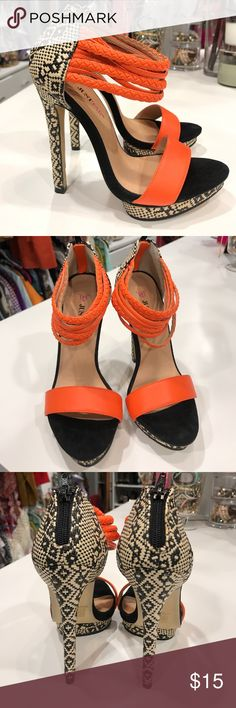 Just Fab Heels Summertime fun heels. Shoes Platforms