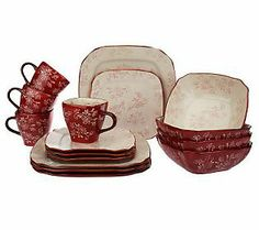 Temp-tations 20-piece Floral Lace Service for 4 Dinnerware Set | Dinnerware and Kitchens  sc 1 st  Pinterest & Temp-tations 20-piece Floral Lace Service for 4 Dinnerware Set ...