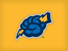 Secondary logo for the Trenton Thunder (Class AA affiliate of the New York Yankees) by the talented Studio Simon.