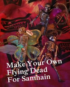 Make your own skeleton fairies for Samhain, Halloween, or whenever you want. Easy DIY with instructions, just click. Flying Dead photo by Lilith Dorsey. All rights reserved. Halloween Skeletons, Halloween Crafts, Samhain Halloween, Halloween Ideas, Elves Fantasy, Fantasy Fairies, Sculpture Clay, Ceramic Sculptures, Dark Fairies