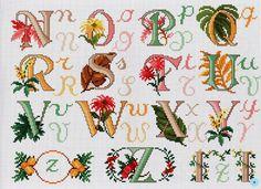 ru / Фото - A punto croce 34 - Los-ku-tik Abc Alphabet, Monogram Alphabet, Cross Stitch Alphabet, Alphabet And Numbers, Cross Stitch Boards, Cute Cross Stitch, Cross Stitch Designs, Cross Stitch Patterns, Plastic Canvas Letters