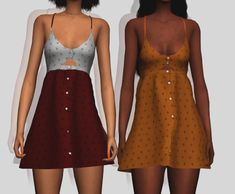 All Season Dress Recolors for The Sims 4