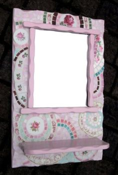 Shabby Chic Mosaic Mirror by suezcues on Etsy, $120.00