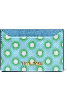 Miu Miu | Printed textured-leather cardholder | NET-A-PORTER.COM