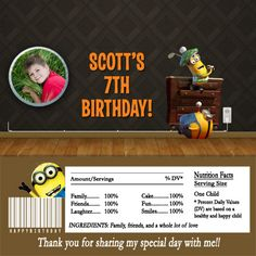 Despicable Me Golfing Minions Photo Hershey Candy Bar Wrappers Birthday Party Invitations, Baby Shower Invitations, Holiday Photo Cards, Christmas Cards, Minion Photos, Hershey Candy Bars, 100 Fun, Candy Bar Wrappers, Graduation Announcements