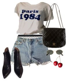 """Untitled #277"" by prepworld ❤ liked on Polyvore featuring Agent Provocateur, Levi's, Alaïa, Chanel and Ray-Ban"