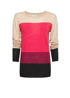 Merino wool striped jumper