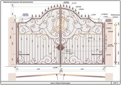 Best And Popular Front Door Wrought Iron Stairs, Wrought Iron Decor, Door Gate Design, Fence Design, Gate Pictures, Metal Gates, Door Paint Colors, Grades, Grill Design
