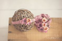 Newborn Headband. Photography Props. Newborn Props. Baby Headband. Jersey Headband. Rose Pink Floral Headband. Visit www.princessandthepeaprops.com.au for more!