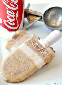 Give an ol vintage drink a twist: coke float popsicles