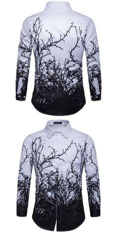 2017 Designer Shirt Men Long Sleeve Personality Printed Shirt Men  Party Prom Shirt Chemise Homme M-2XL Slim Fit Shirt Men