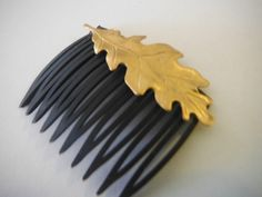 Gold Leaf Hair Comb by NikkiQCreations on Etsy, $5.00