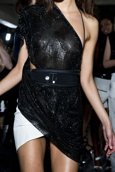 Swarovski Elements for Anthony Vaccarello SS13 show. Photography by Filippo Fior.
