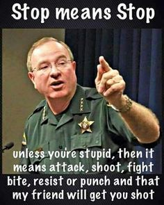 "I support law enforcement!! - not the ""victims"" (aka thugs or criminals) who whine after they get shot while committing a crime or resisting an officer's command to stop or halt!!  I say, shoot 'em!"