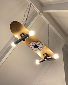 Custom made/painted skateboard light - Skateboard Furniture - Skater Girls