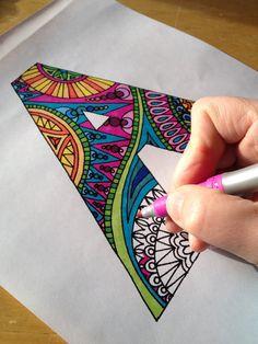 Alfabeto para colorear páginas PDF 26 imágenes por amyfortier