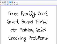 FlapJack Educational Resources: Three Smart Board Tricks for Making Self-Checking Problems
