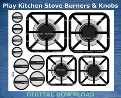 free printable kitchen stove. just print and paste on a box to