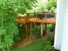 Wooden Front Step Designs | Charlotte NC wooden deck extension - Wood Decks Photo Gallery ...